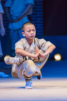 Luoyang, China - May 17, 2018: Kung fu show in Shaolin monastery