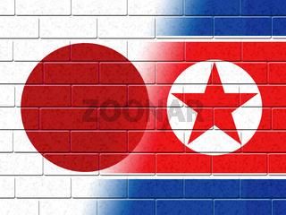 Japanese Versus North Korea Dprk Nuclear Talks 3d Illustration