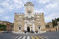 Porta Pia, city gate, museum, Rome, Italy, Europe