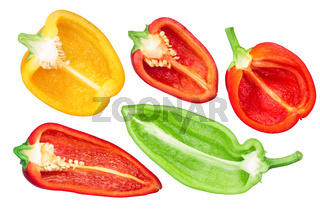 Bell peppers halves