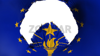 Big hole in Indiana state flag