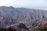 Look to Valhermoso, La Gomera, Spanien