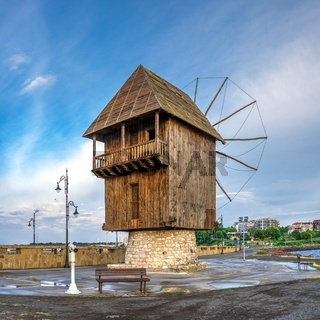 Old windmill in Nessebar, Bulgaria