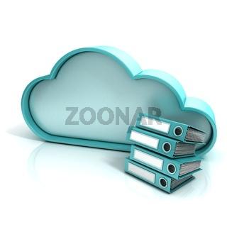 Cloud folder 3D computer icon