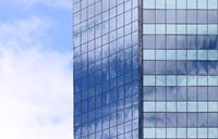 Beautiful photos of modern buildings under blue sky