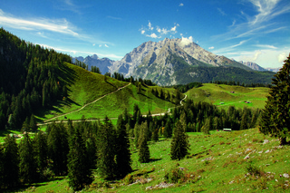Idyllic landscape in the Alps, Nationalpark Berchtesgadener Land, Bavaria, Germany