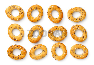 Collection Of Mini Bagel Snacks