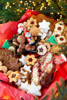 Colorful selection of Christmas cookies