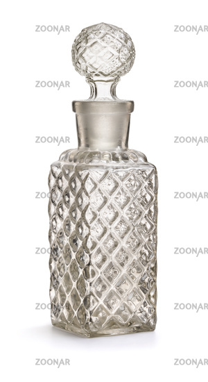 Vintage glass cosmetic bottle