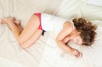 Sleeping young woman