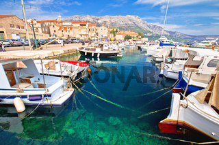 Historic town of Korcula island waterfront view