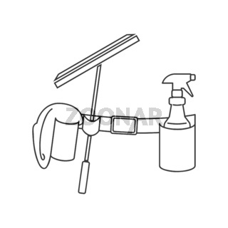 Window Cleaning Belt Icon Vector