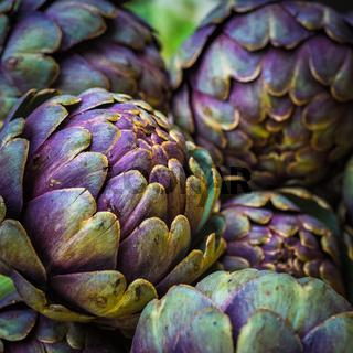 fresh artichokes at farmers market