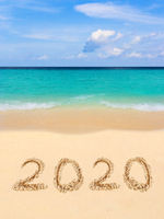 Numbers 2020 on beach