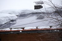 snow on photovoltaic roof