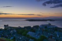 Heligoland - island dune - sunrise