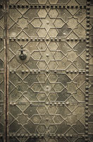 Old metal doors in traditional Moroccan style.