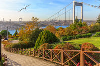 Fatih Sultan Bridge over the Bosphorus, Istanbul,Turkey
