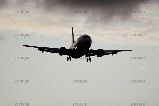 plane in the sky background