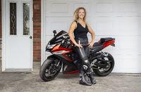 Proud motocyclist