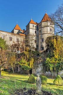 Schloss Scharfenberg, Sachsen   Castle Scharfenberg, Saxony