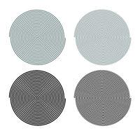 Spiral icon outline set grey black color