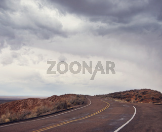 Road in Petrified Forest National Park, Arizona, USA