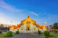 Thai Marble Temple (Wat Benchamabophit Dusitvanaram) in Bangkok, Thailand