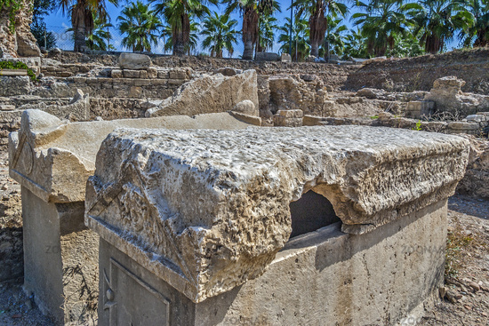 Graves At The Byzantium Hospital, Side, Turkey