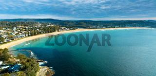 Panoramic views of Avoca Beach