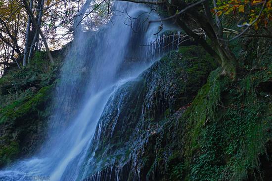 Uracher waterfall, swabian alb, germany