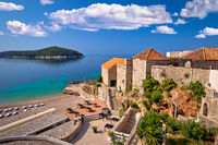 Dubrovnik. View of Lazareti and Banje beach with Lokrum island view in Dubrovnik
