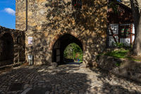 Beautiful streets of the historical part of the old town. Mill Gate.