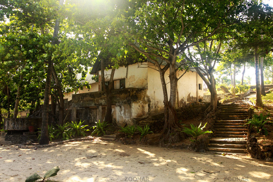 Traditional dwelling in the village in Kenya