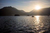 Sunset in Perast, Montenegro