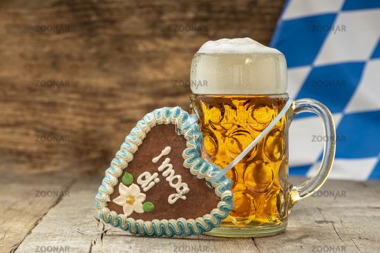 big beer mug at Oktoberfest in Munich