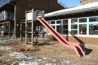Children's slide in front of the kindergarten