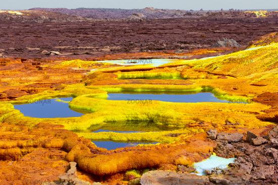 Dallol, Ethiopia. Danakil Depression