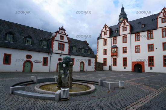 Forecourt with fountain Hadamar Castle