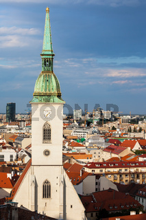 Bratislava Cityscape With Cathedral Tower