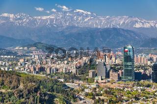 Skyline of Santiago de Chile