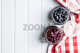 Blueberry and raspberry jam.