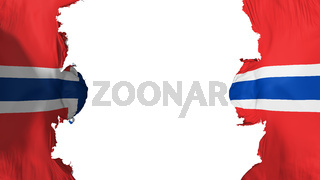 Blasted Norway flag