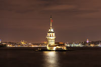 The Maiden's Tower in the Bosphorus strait, Istanbul, evening view
