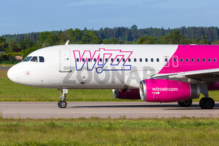 Wizzair Airbus A320 airplane Gdansk airport