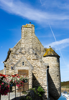 the historic Maison des Seigneurs or 'Gentlemen's House' in the old port of La Conquet in Brittany