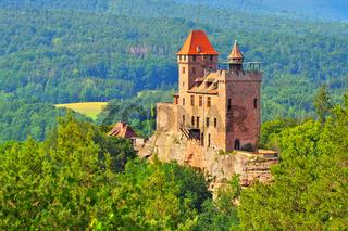 Erlenbach Burg Berwartstein im Dahner Felsenland - castle Berwartstein in Dahn Rockland, Germany