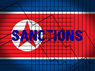 American Trade Sanctions Against North Korea 3d Illustration