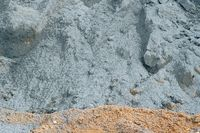 Close-up of cement pile