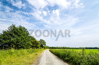 Rural landscape with a nature trail